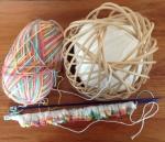 multi coloured wool