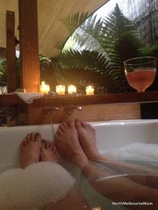 bath candles feet