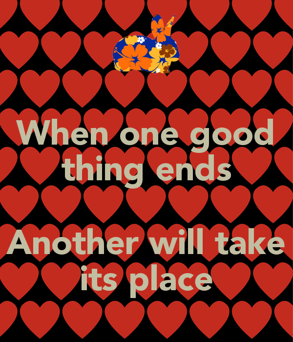 all good things must end