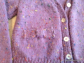 purple cardigan toddler