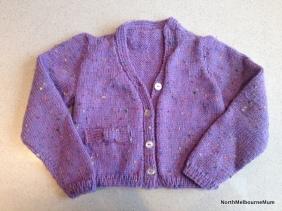 purple cardigan toddler