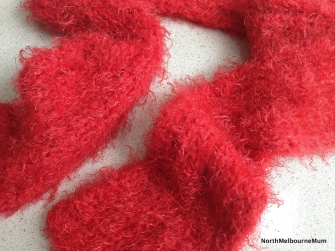 Red Scarf Made in North Melbourne