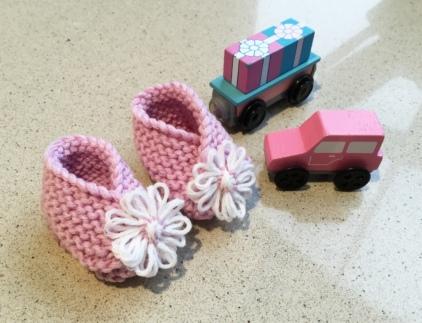 Pink Merino Booties