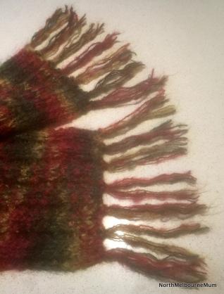 tassels on scarf