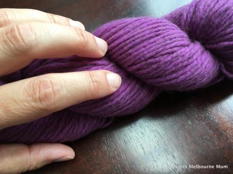 Purple wool Hokitika