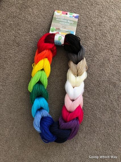 rainbow yarn