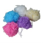 nylon shower puff
